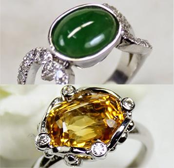 宝石の色や、素材の色のバランスを考えて作ります。